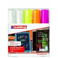 Набор меловых маркеров  E-4090 (5 шт)
