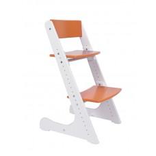 Растущий стул Конёк Горбунёк (бело-оранжевый)