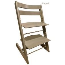 Детский растущий регулируемый стул Strong (серый)