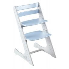 Растущий стул Конёк Комфорт (бело-небесный)