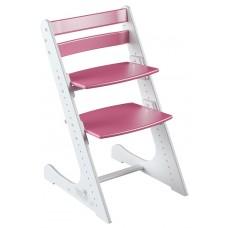 Растущий стул Конёк Комфорт (бело-розовый)