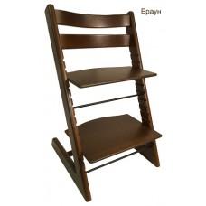 Детский растущий регулируемый стул Strong (браун)