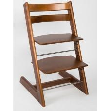 Детский растущий регулируемый стул Strong (орех)